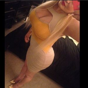 Gold Bandage Dress large